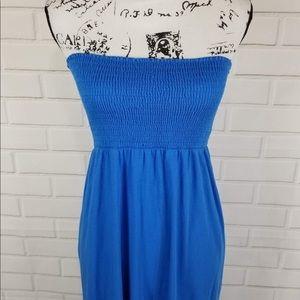 Michael Stars Smocked Strapless Summer Maxi Dress